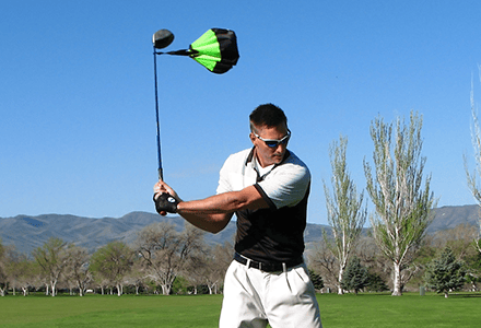 golf chute for powerful swings